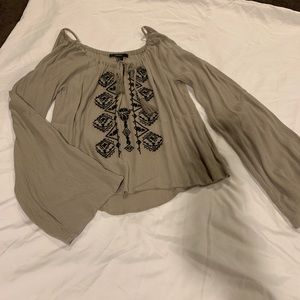 Forever21 Brown Blouse